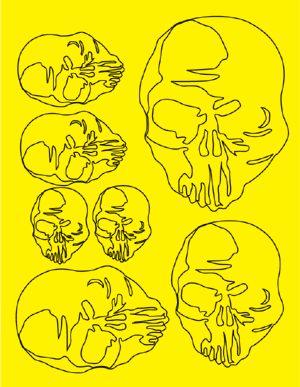 Parma 10673 Skulls Paint Mask
